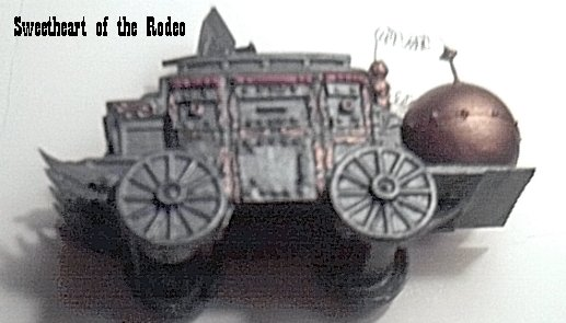 SWEETHEART OF THE RODEO: GALVANIC WAR WAGON MADE FROM BURGER KING TOY